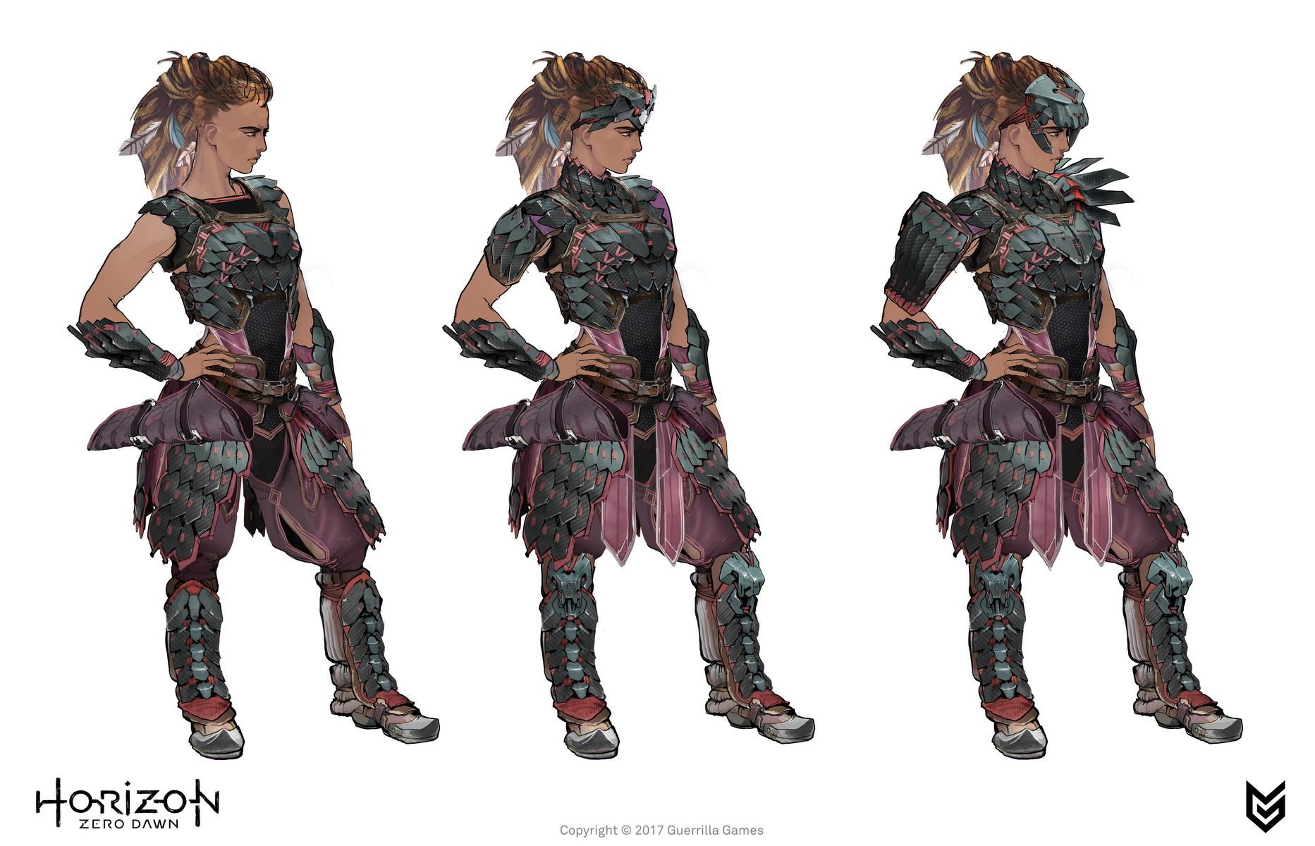 Ilya Golitsyn  Horizon Zero Dawn  Aloy costumes concept art