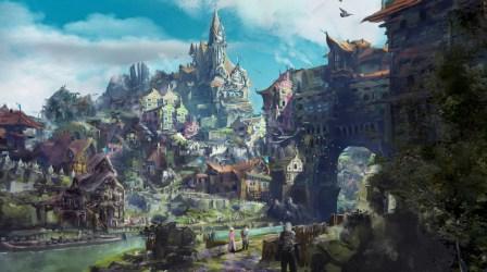 D&d Fantasy Village Art