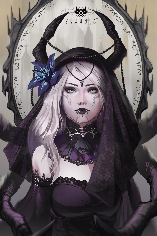 Artstation - Gothic Girl Vezonia Lithium