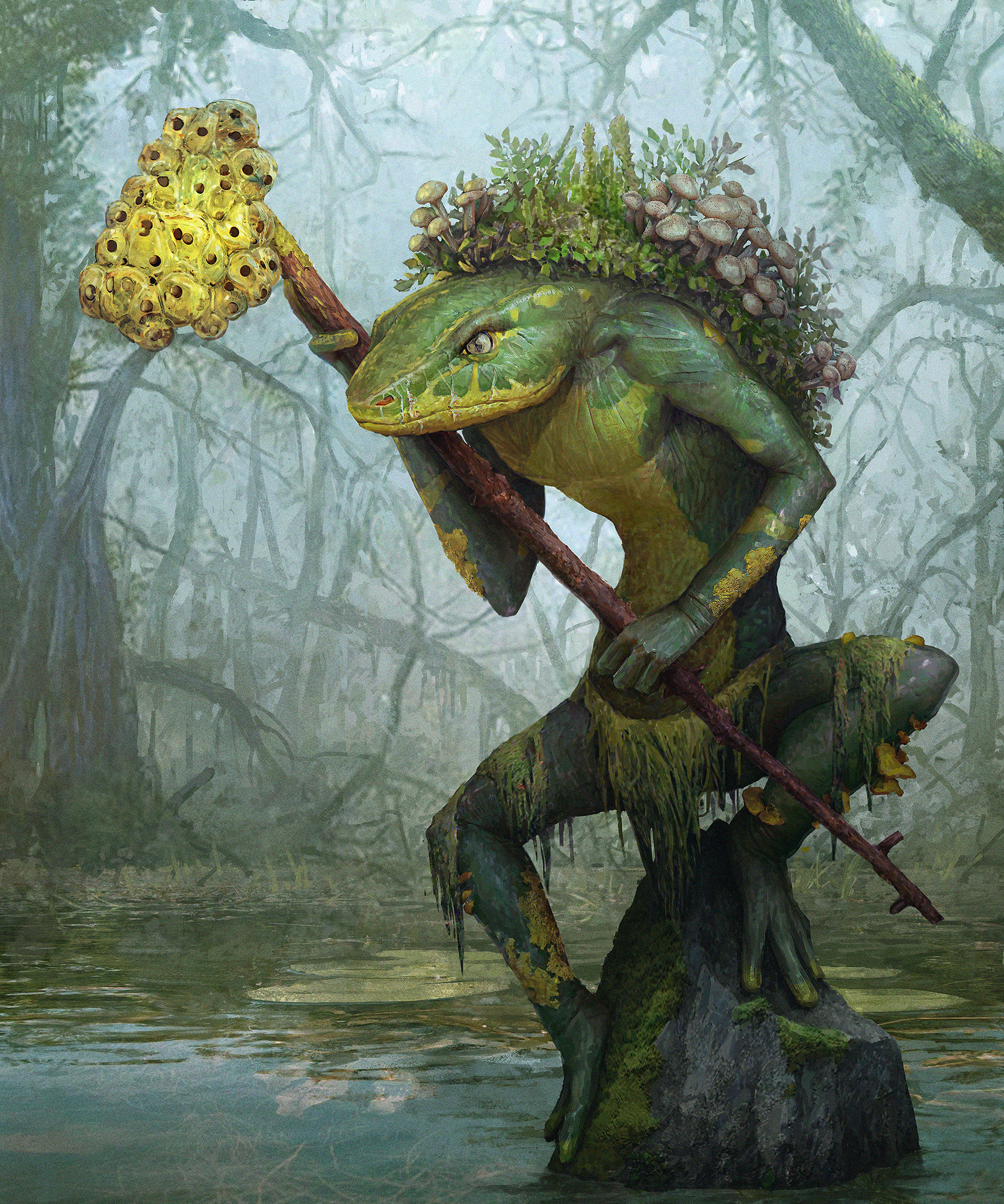 ArtStation Swamp Creature Oleg Kapustin
