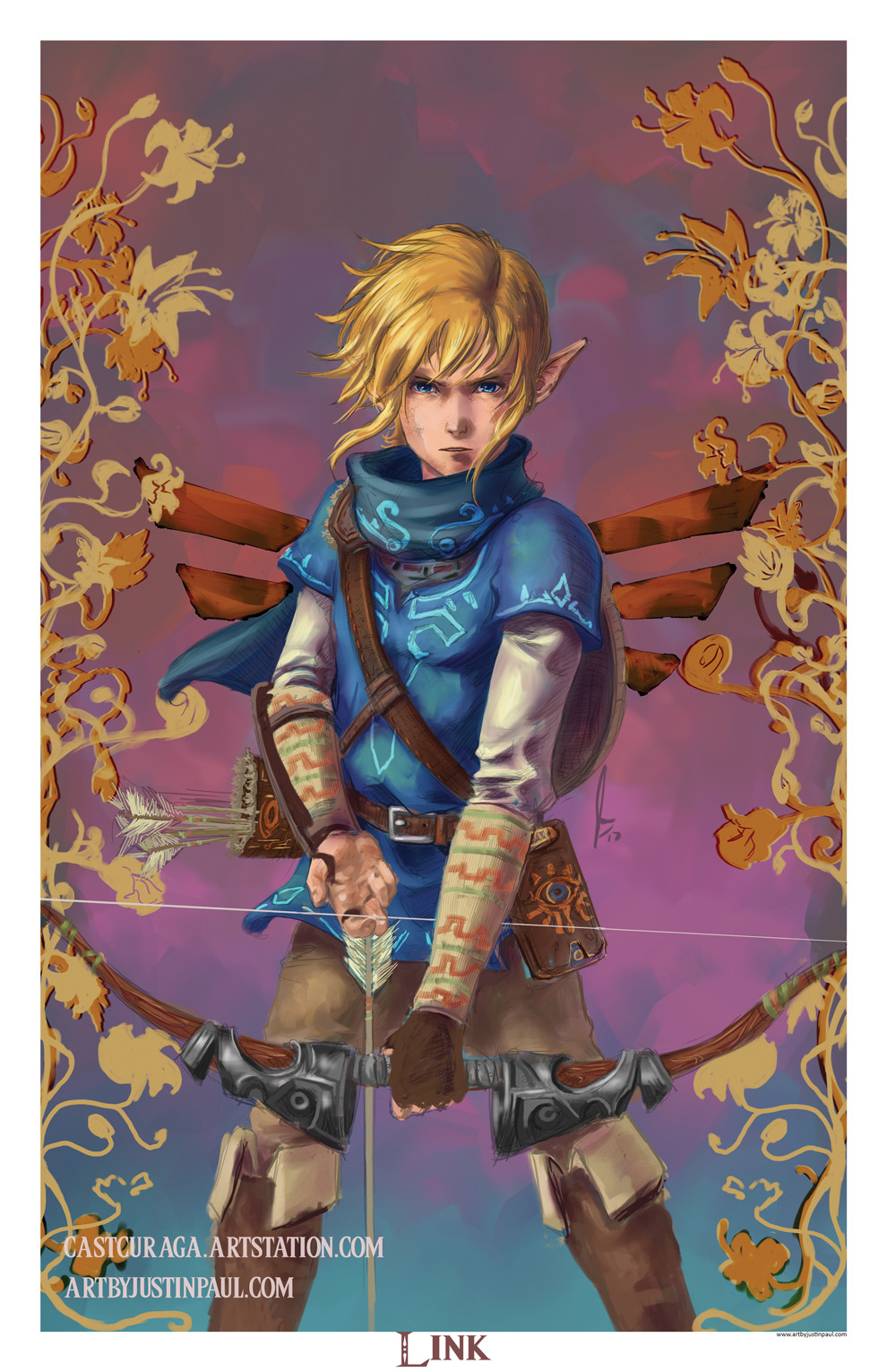 Link (the Legend Of Zelda) : legend, zelda), ArtStation, Legend, Zelda, Breath, Wild,, Justin