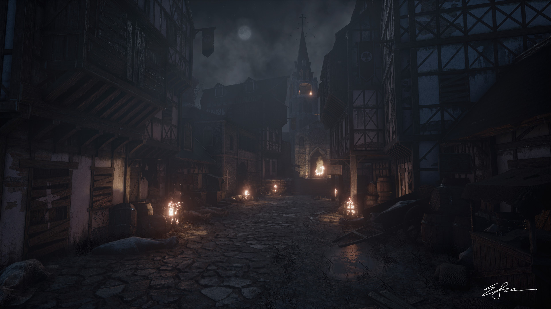 Artstation - Medieval Village Plague Ue4 Efrem