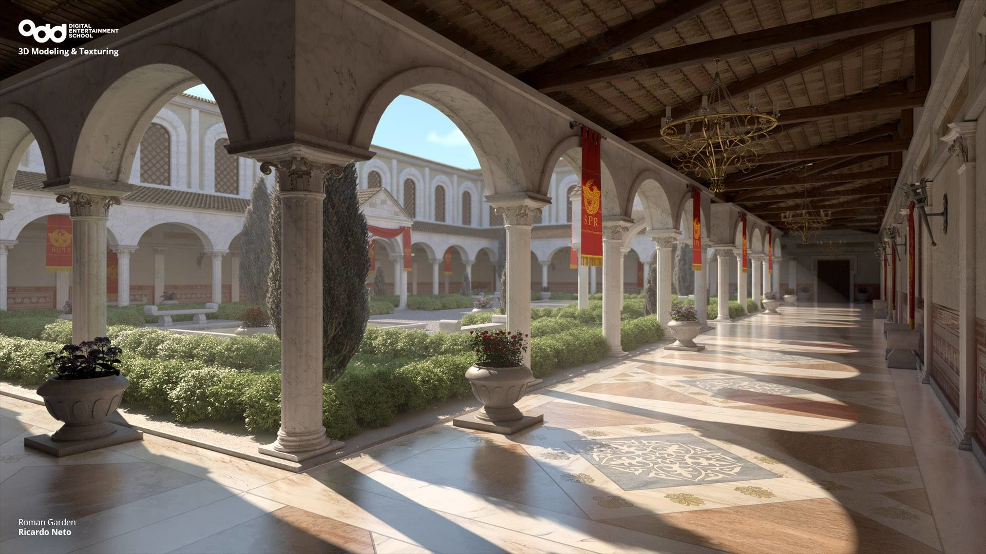 ArtStation  Roman Courtyard Ricardo Neto