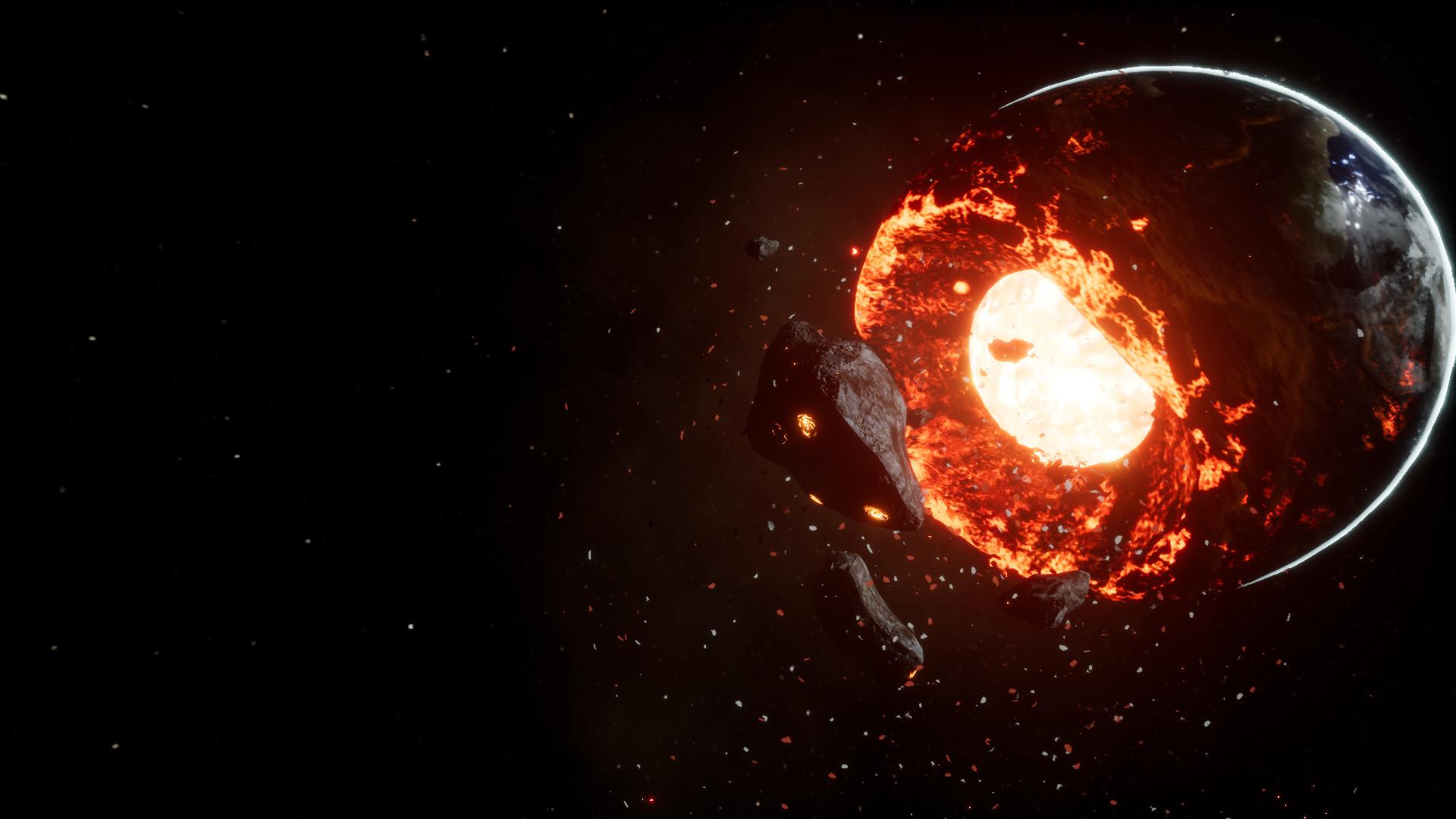 ArtStation  Destroyed Planet Thomas Barber