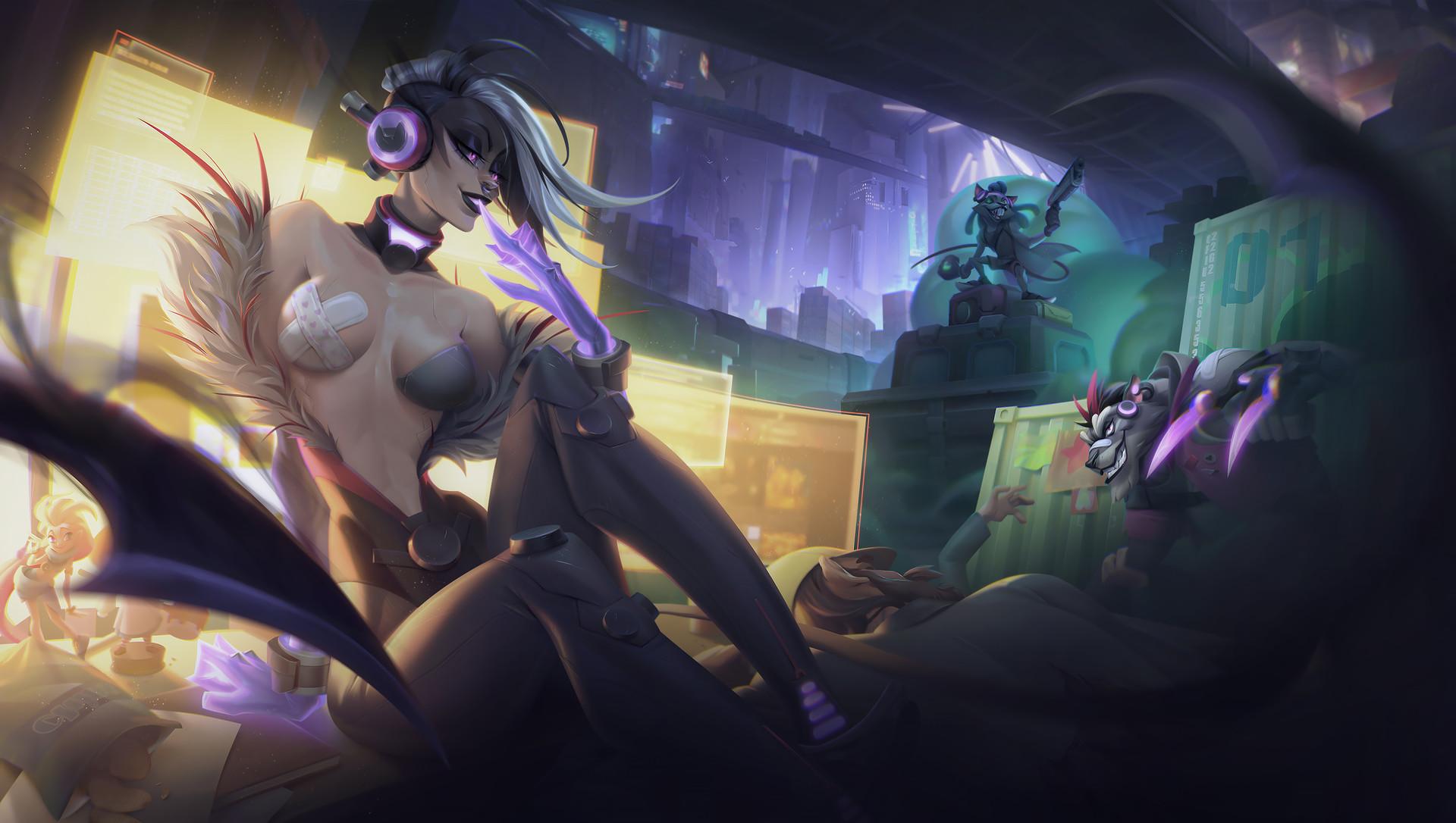 Lol Champions Wallpaper Hd Mercenaries Evelynn Twitch And Rengar Fanart By Sasha