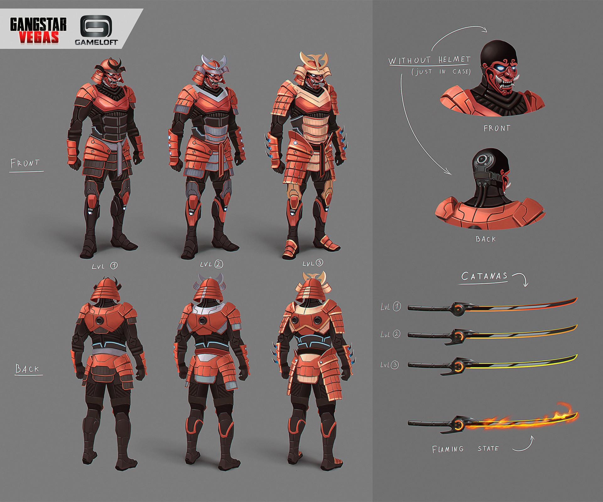 artstation samurai exoskeleton for