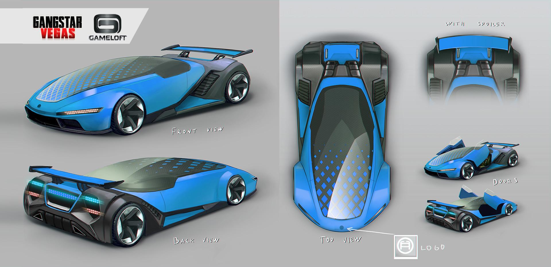 artstation luxury concept car