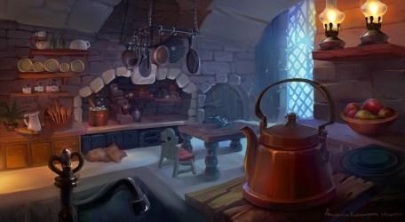 ArtStation Medieval kitchen Anastasiia Kudryavtseva Kupetz