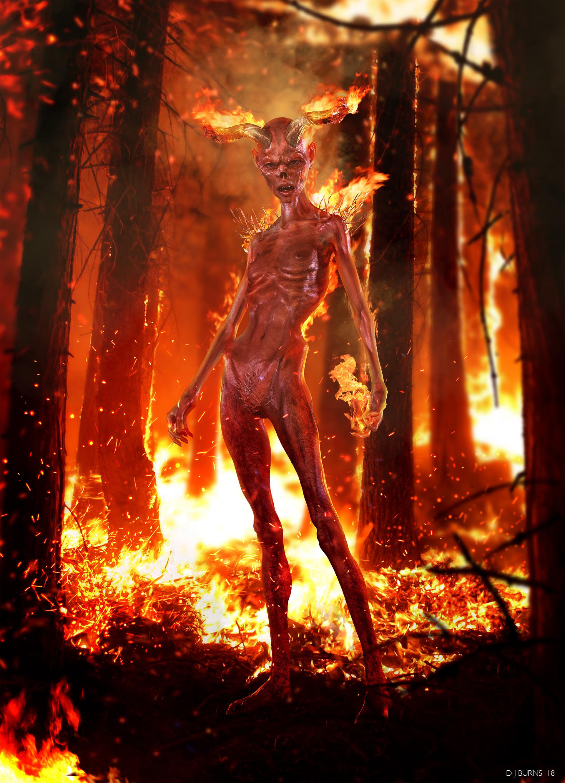 artstation fire demon daniel