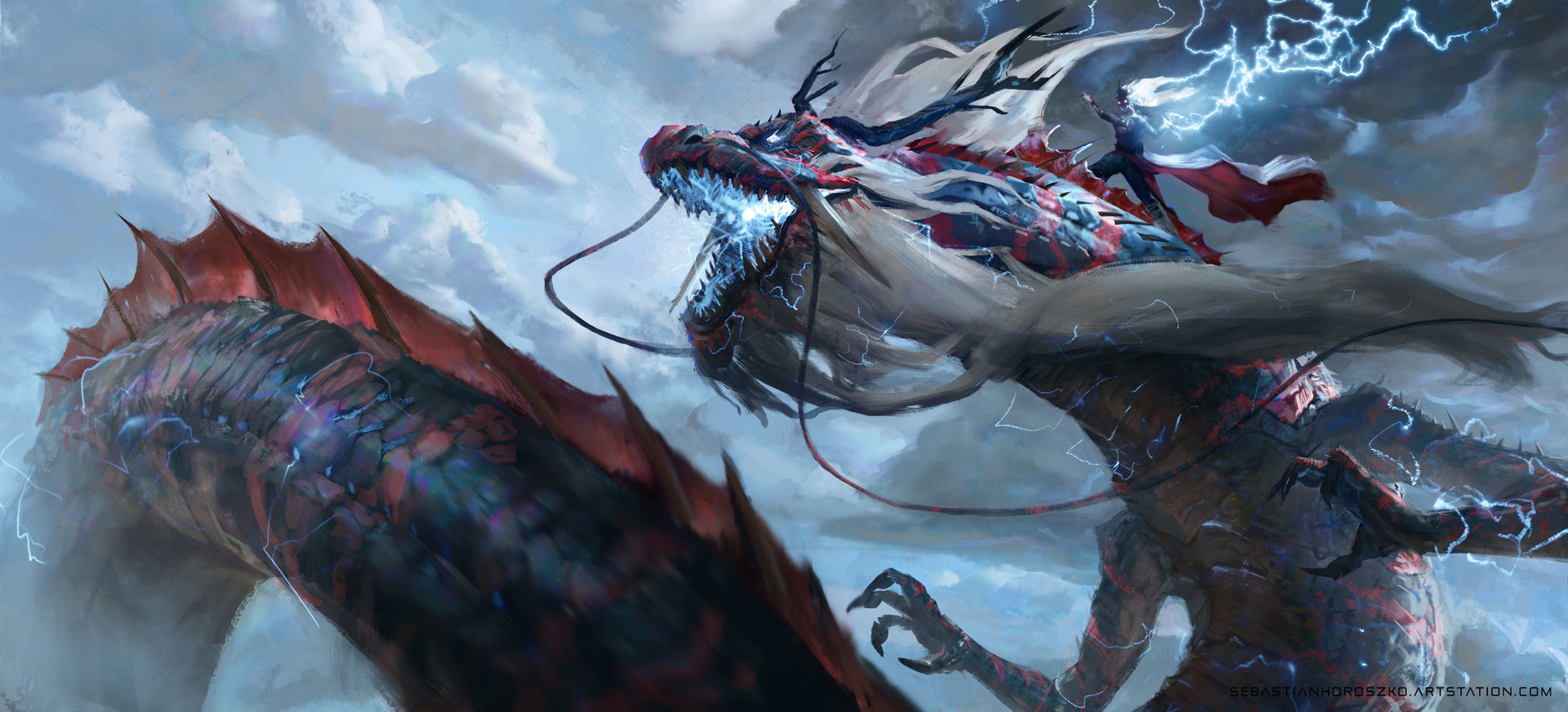 Artstation - Dragon Twins Sebastian Horoszko