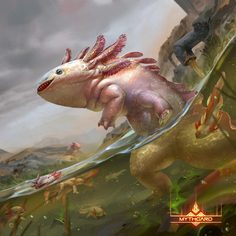 Artstation - Golden Axolotl Rudy Siswanto