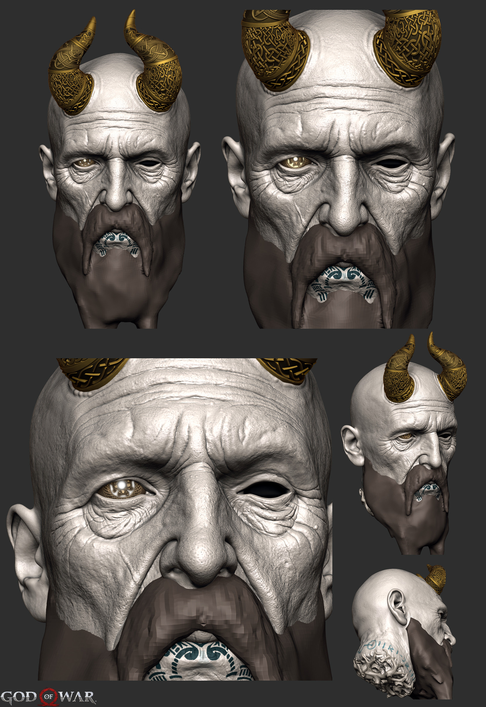Mimir God Of War : mimir, ArtStation, Mimir's, Head,, Viktor, Germogenov