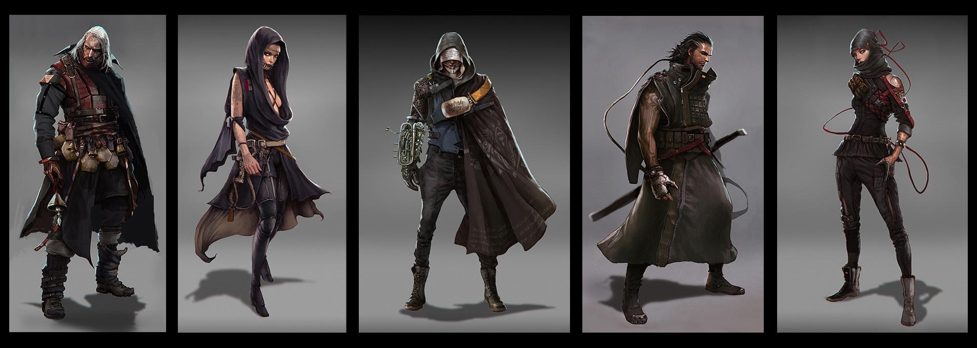 Kev Chu  Steampunk Characters