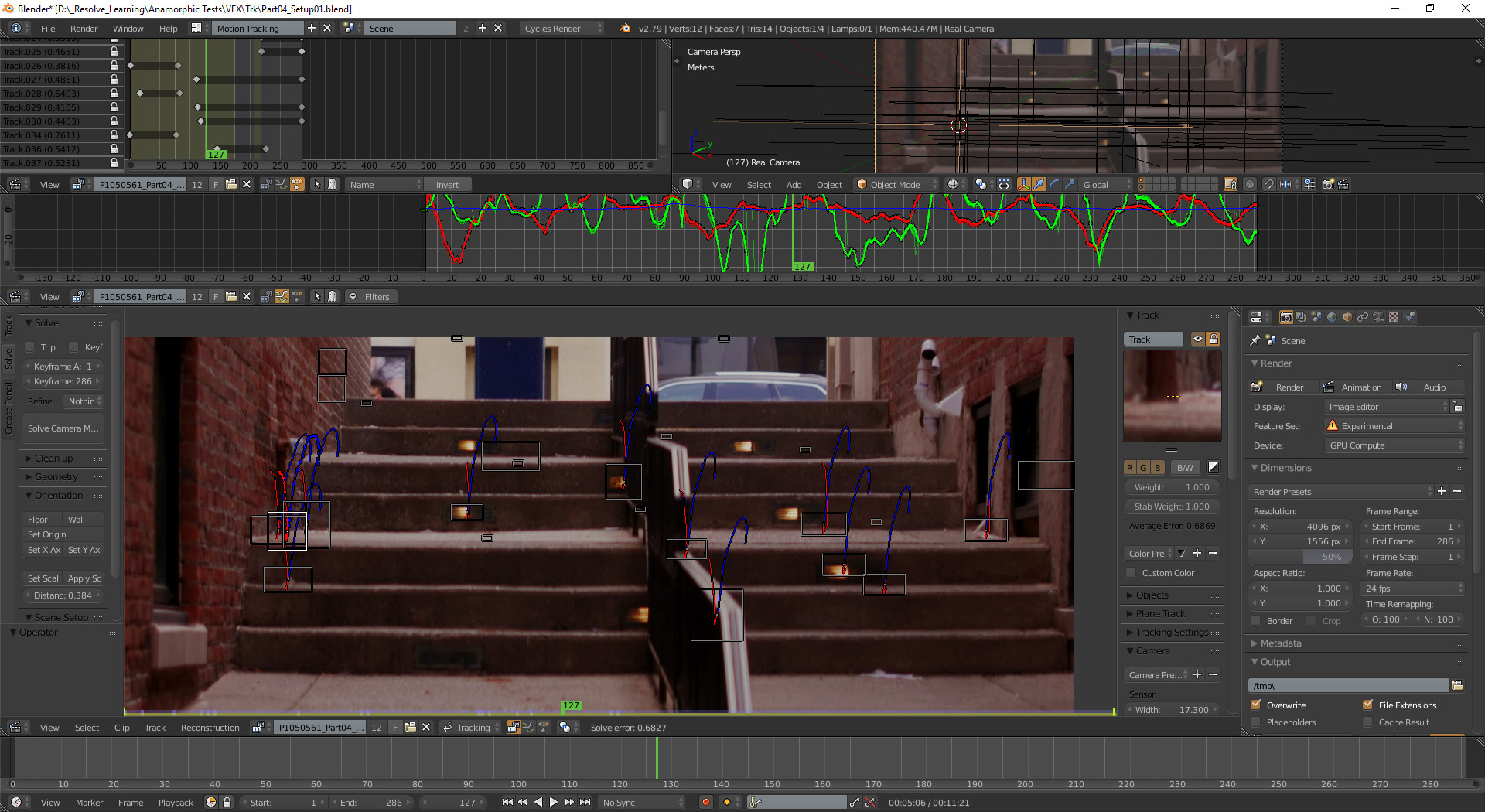 Matchmove Artist Resume Art Of Paris Hall Matchmove Tracking Test In Blender