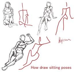 最高 Ever Sitting Pose Reference Drawing サンゴメガ