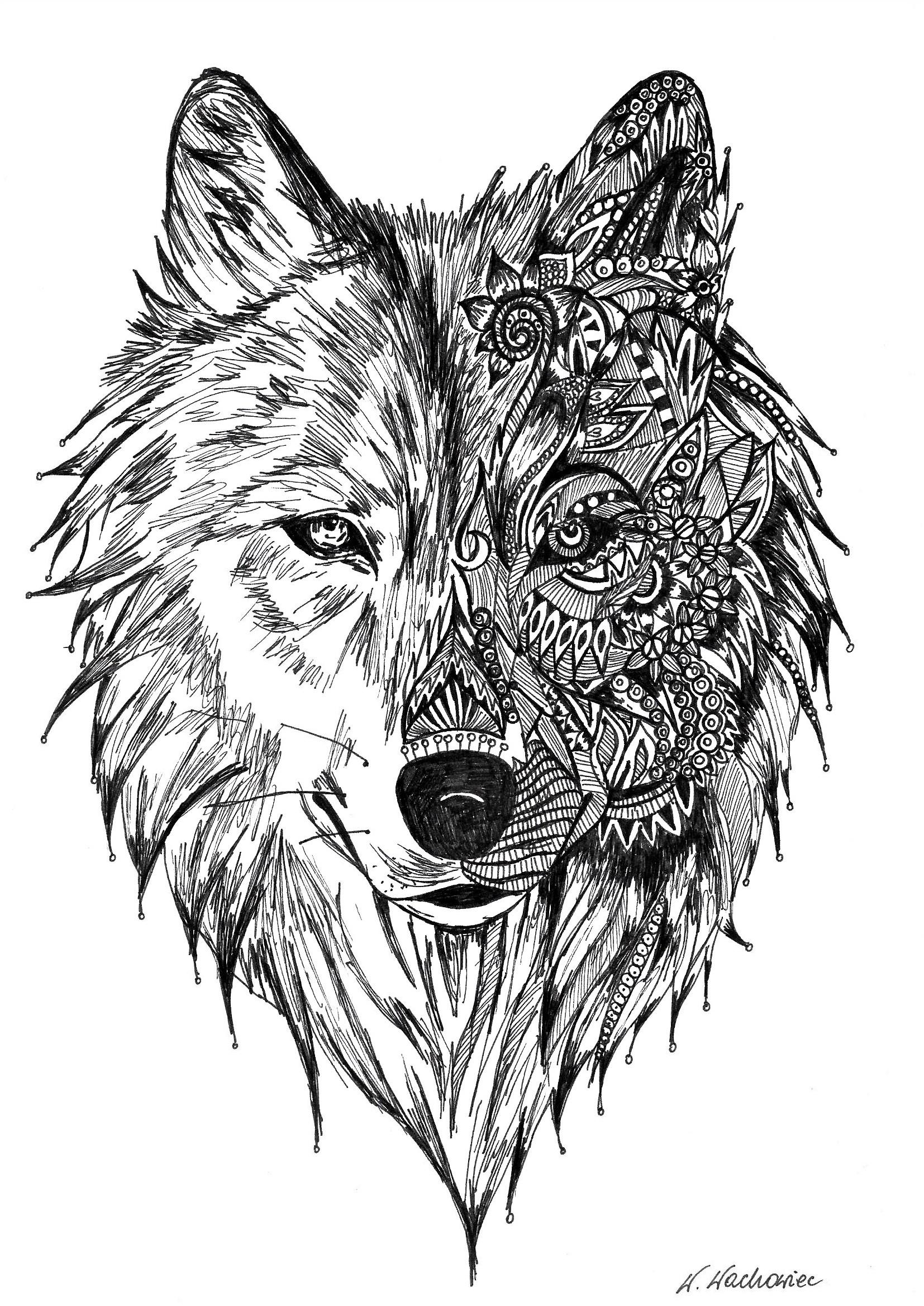 Wolf Mandalas : mandalas, Veronica, Mandala
