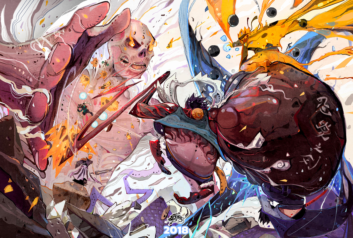 Which one has the better anime and. One Piece X Attack On Titan X Naruto 2018 Fanart By Narupiti Harunsong Onepiece