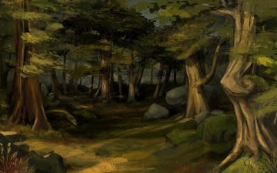 Esther Chahian Forest background
