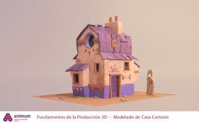 ArtStation Modelado de Casa Cartoon Bibiana Crespo Rodriguez