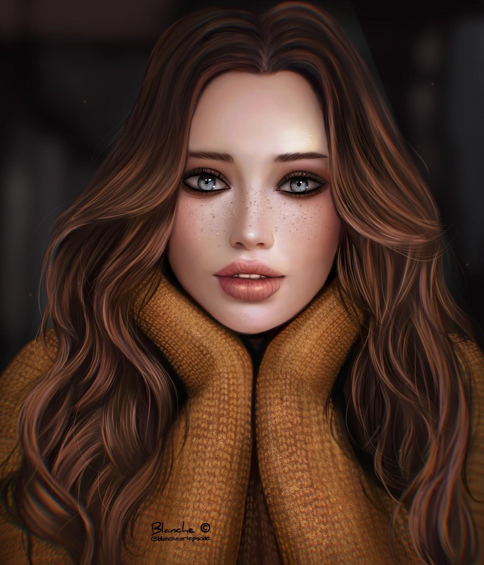 blanche art - girl digital