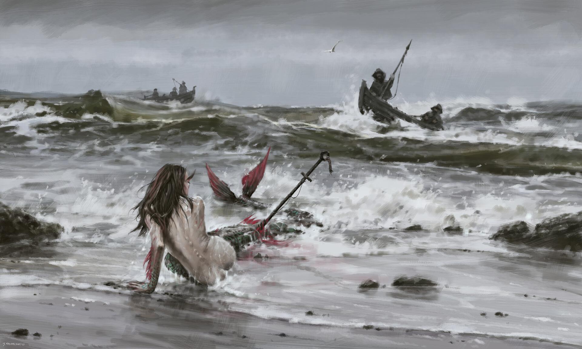 Jakub Rozalski - Mermaid Of Northern Seas