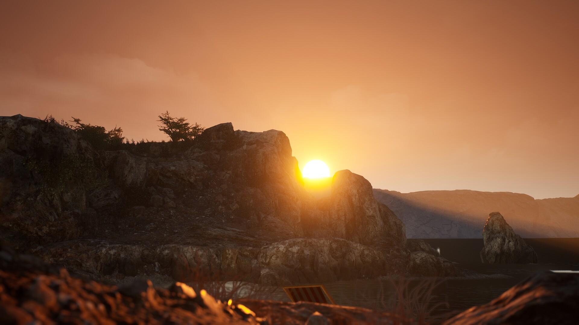 sunset in island ue4 lighting practise