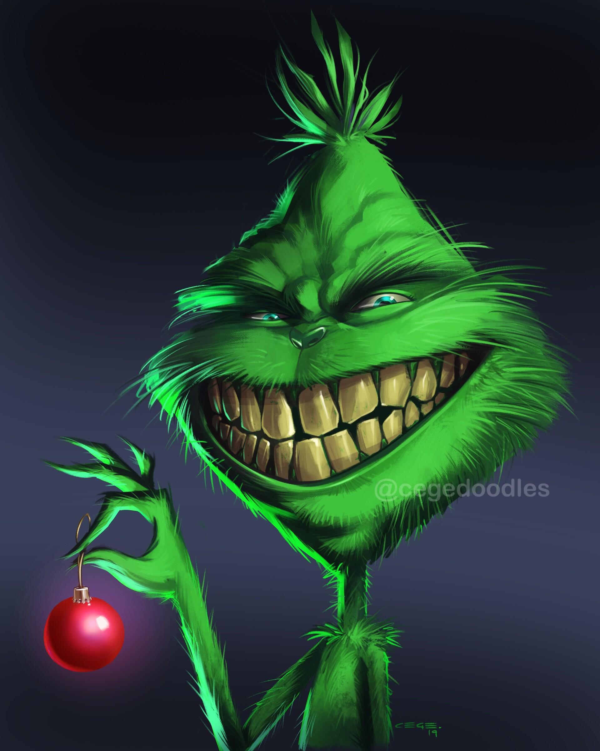 Grinch Smiling : grinch, smiling, Grinch, Smile