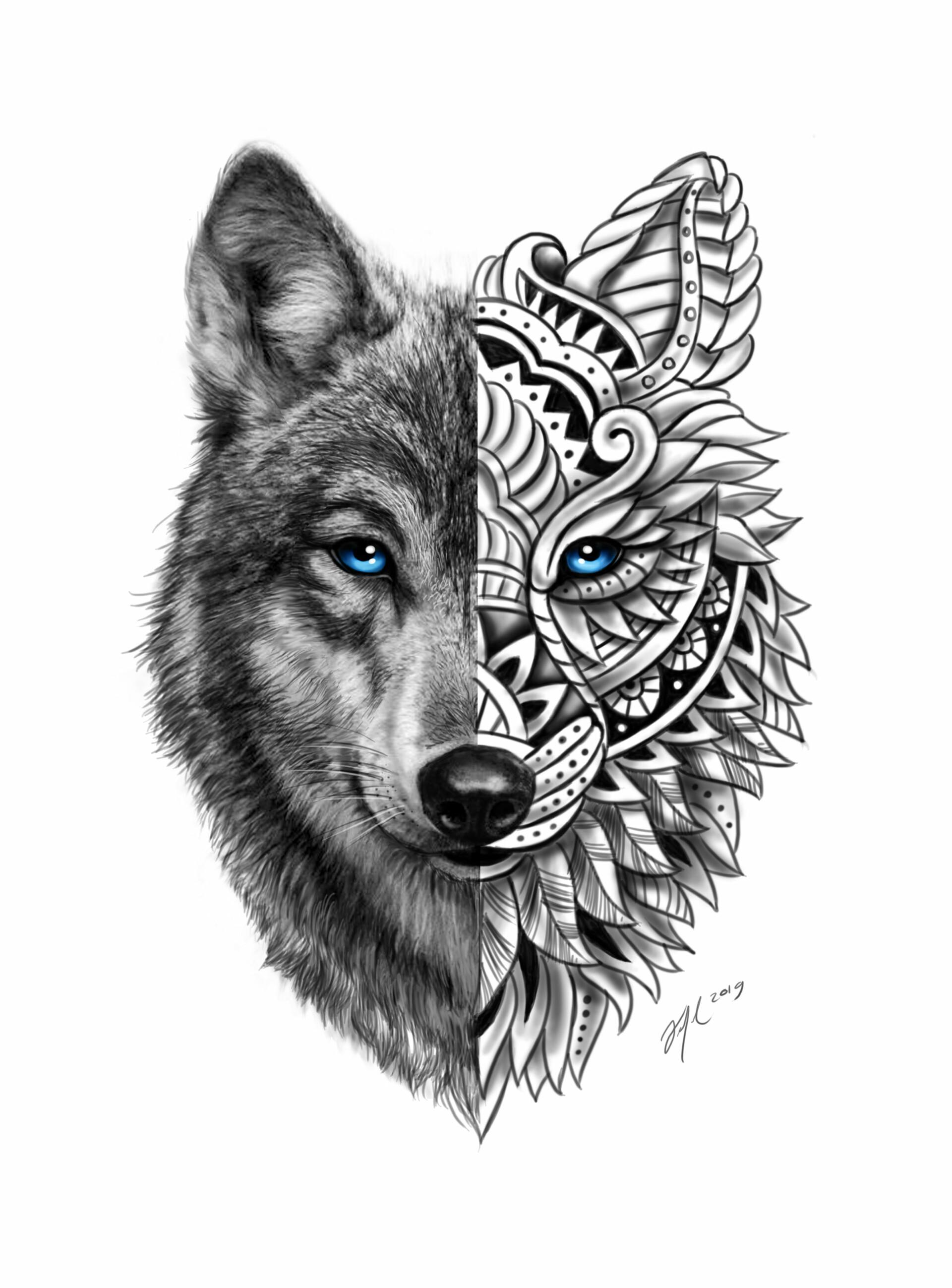 Wolf Mandalas : mandalas, ArtStation, Madala, Wolf,, Bernal