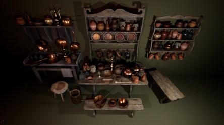 ArtStation Medieval Kitchen Props Soul Tear