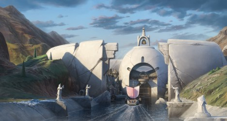 Olexii Shuhurov Fantasy port town