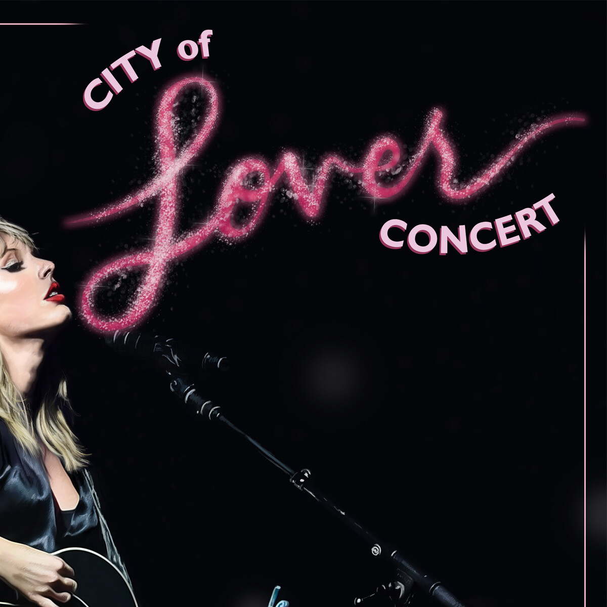 city of lover taylor swift poster