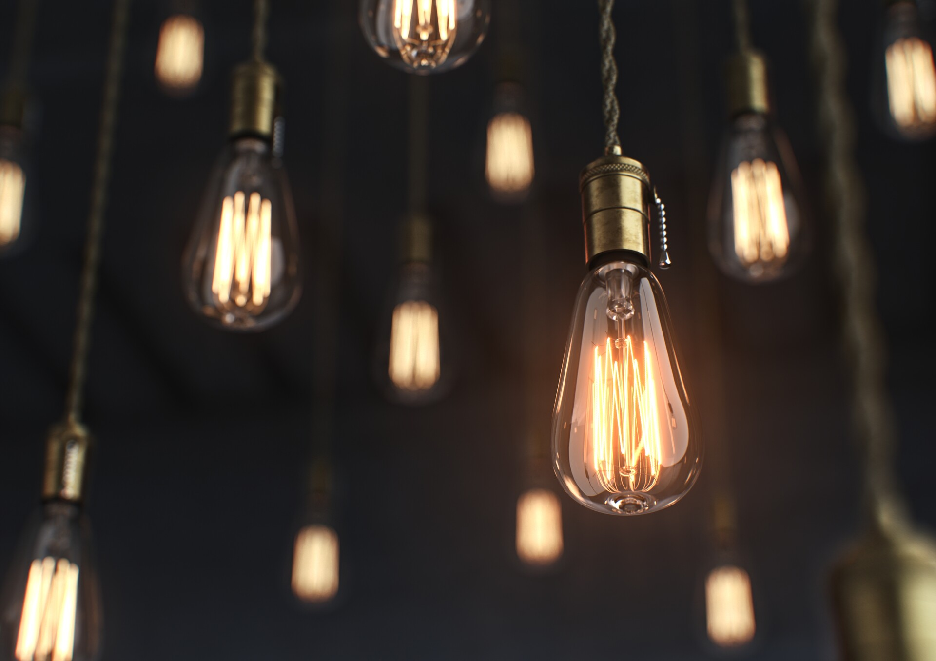 vintage style light bulb ricky scharneck
