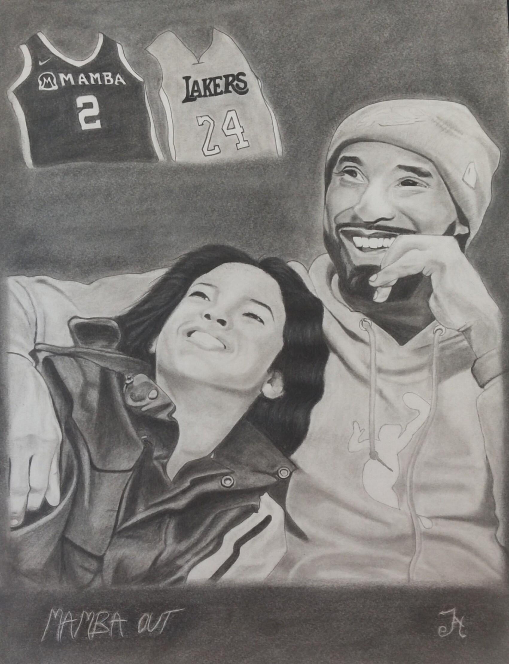 Kobe And Gigi Drawing : drawing, ArtStation, Drawing, Sharma
