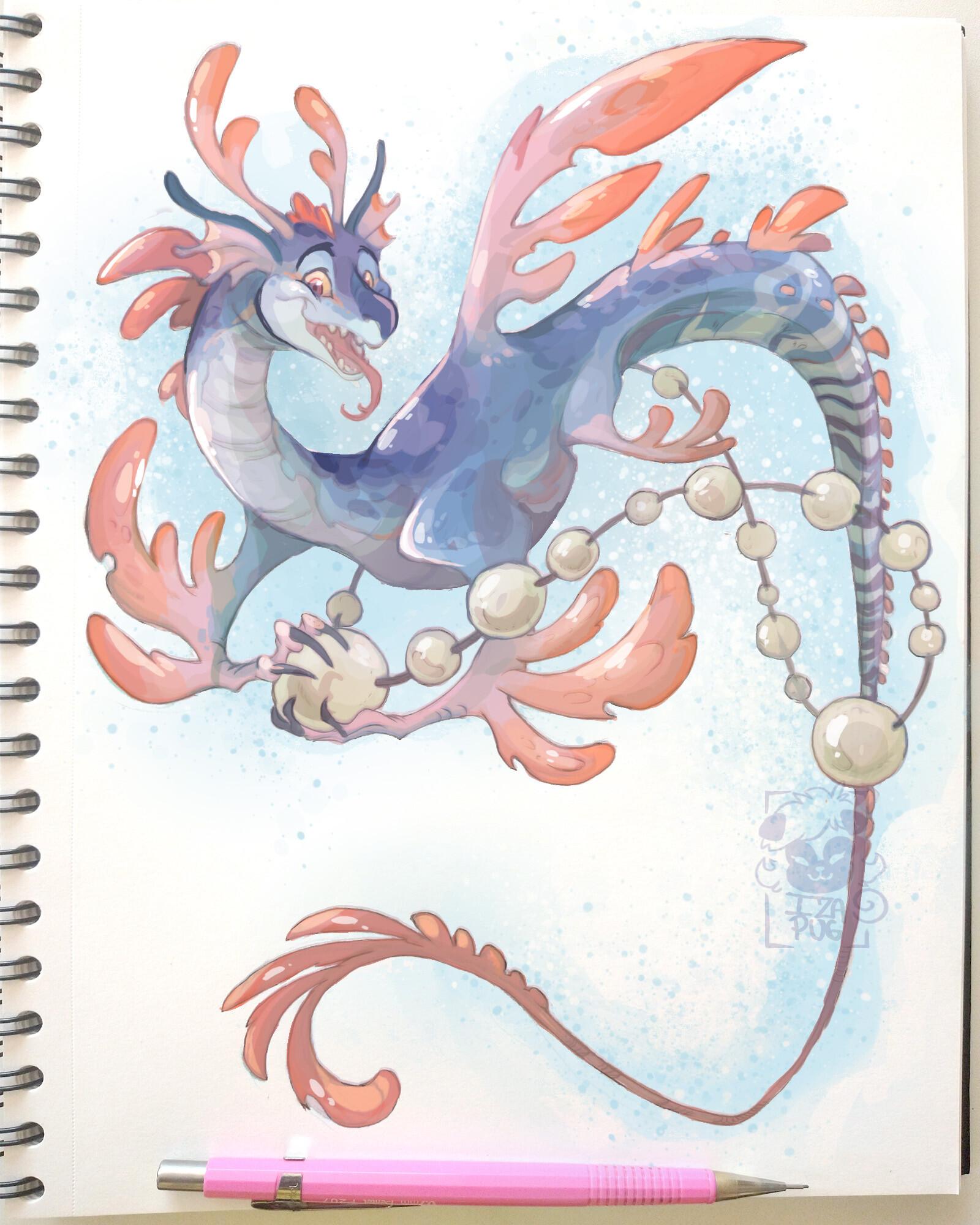 Sea Dragon Drawing : dragon, drawing, Izabela, Lopes, Adami, Dragon