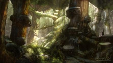 ArtStation Forest Elven City Mario Nosoline
