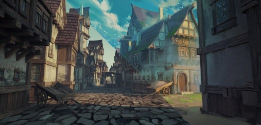 Fantasy Medieval Town Art