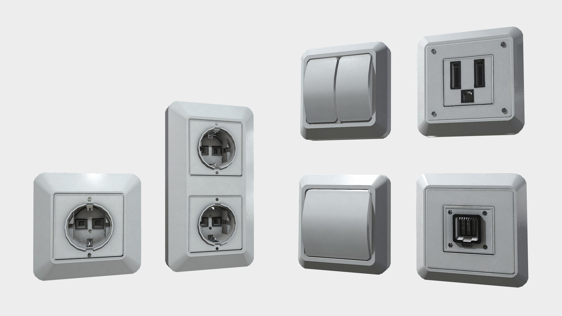 sockets and fuse box pack will help you decorate your interior with a more realistic look  [ 1800 x 1013 Pixel ]