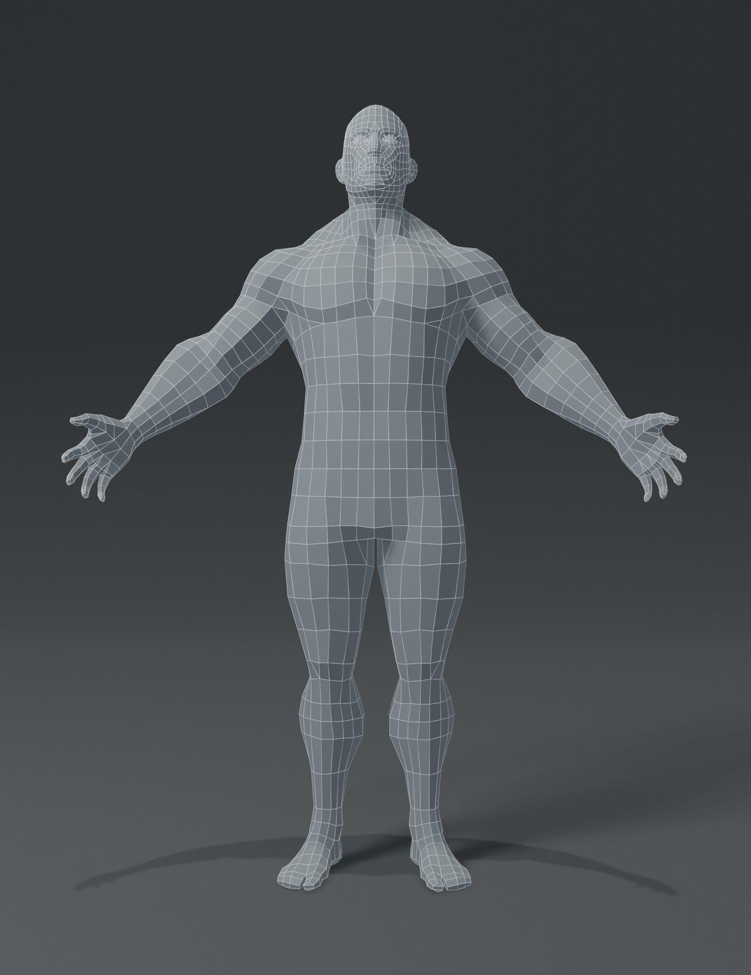 Male Body Base : ArtStation, Superhero, Model, Assets
