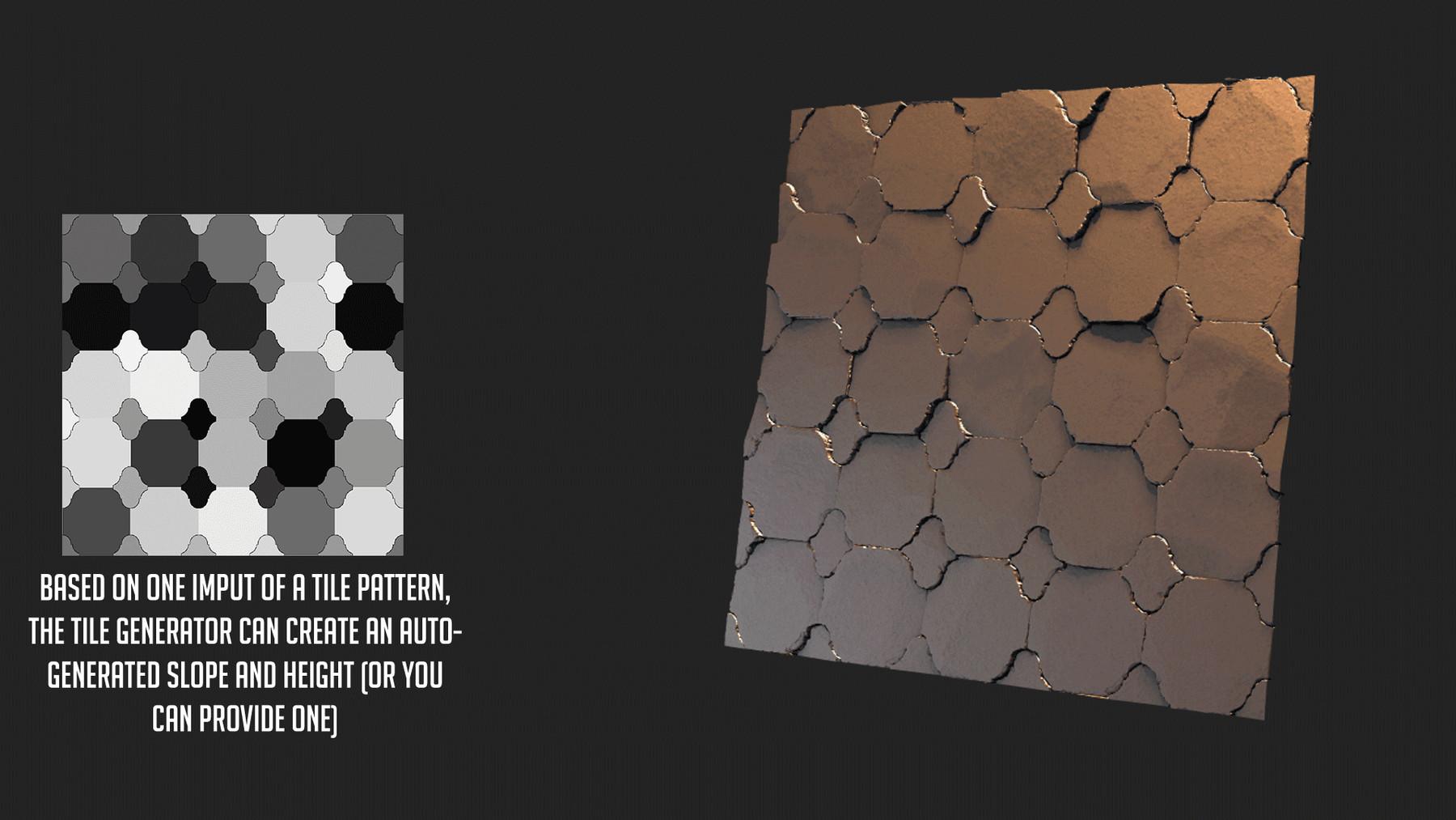 stylized tile generator for substance designer