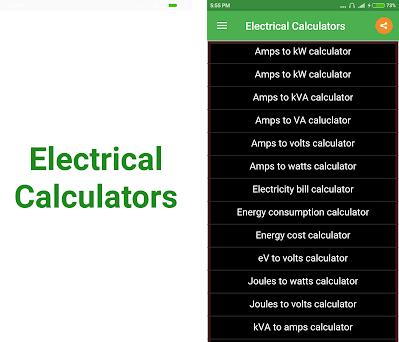 Electrical Calculator 3 1 5 apk download for Android • com
