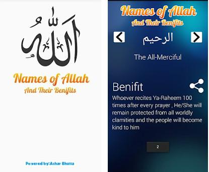 Benefits of Asma ul Husna 1 0 apk download for Android • app