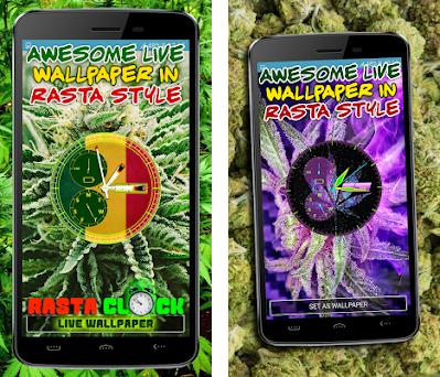 Weed Clock Live Wallpaper with Rasta Themes 1 1 apk download for
