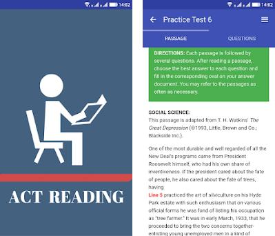 ACT Exam Reading Practice Test 2 0 apk download for Android • com