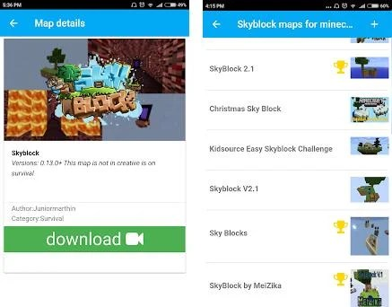 Skyblock maps for minecraft PE on Windows PC Download Free - 2 0
