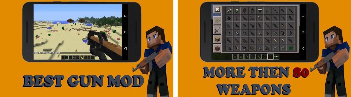 GUNS mod for Minecraft PE 2 0 1 apk download for Android