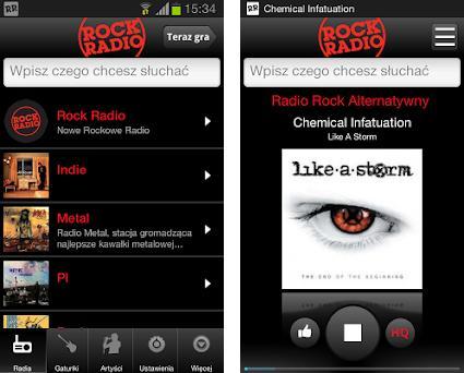 Rock Radio preview screenshot