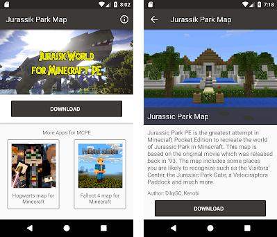 Jurassic craft for minecraft pe | Jurassic park mod for Minecraft PE