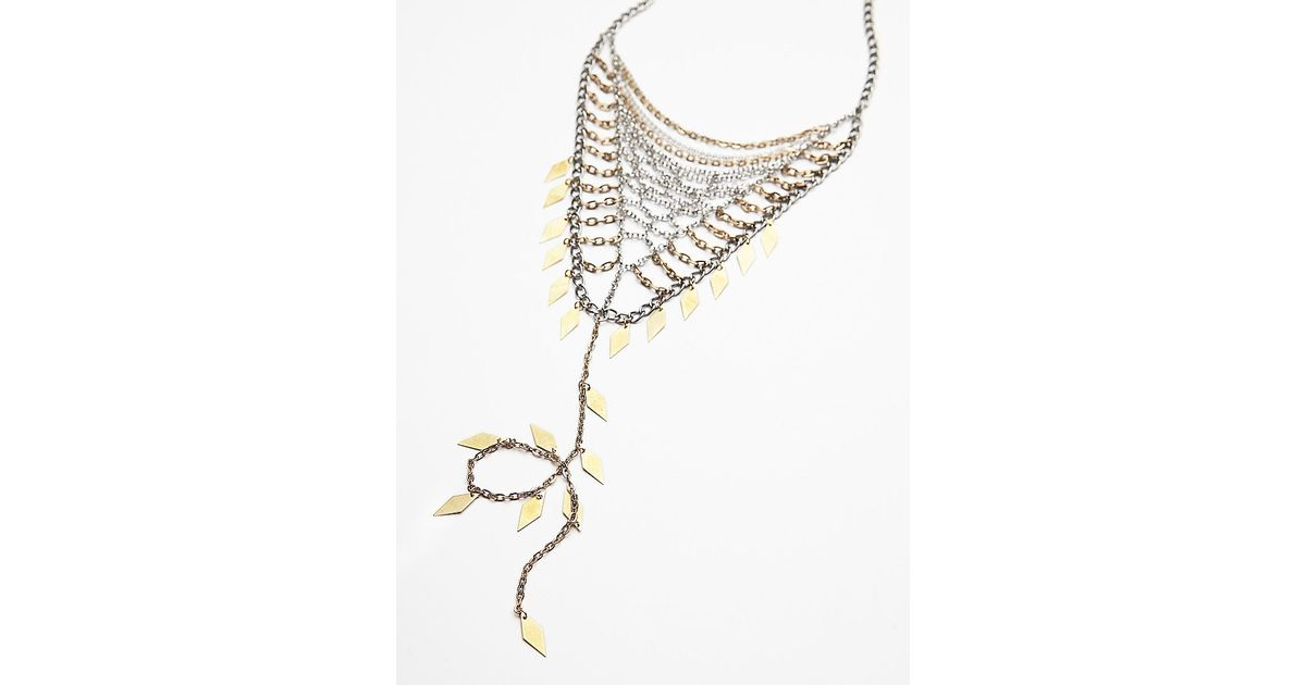 Free people Womens Chainmail Bandana Necklace in Metallic