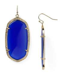Kendra scott Danielle Earrings in Blue (Cobalt) | Lyst
