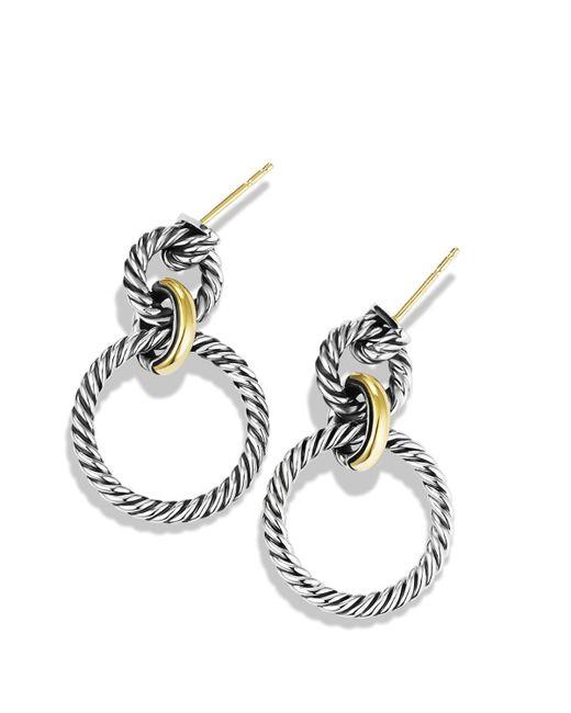 David yurman Cable Classics Doorknocker Earrings With Gold